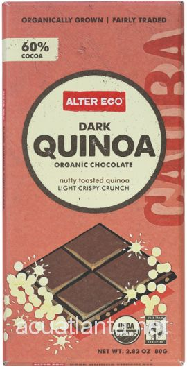 Dark Quinoa 2.82 ounce Organic Chocolate Bar