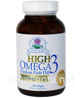High Omega-3 Alaskan Fish Oil 60 soft gelcaps 1000 milligrams