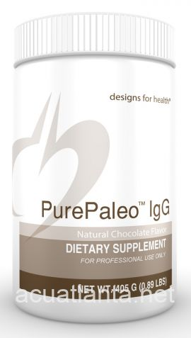 PurePaleo IgG 15 servings Natural Chocolate Flavor