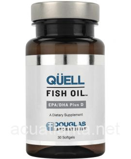 Quell Fish Oil EPA DHA plus Vitamin D 30 soft gelcaps