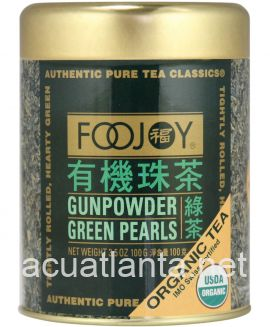 Organic Gunpowder Green Pearls Tea 4 oz