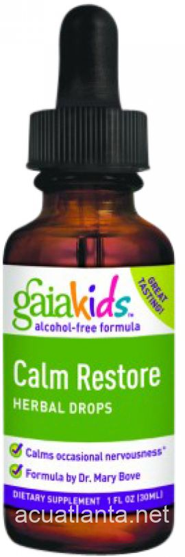 Gaia Kids Calm Restore Herbal Drops 2 oz