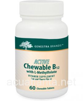 Active Chewable B12 with L-Methylfolate 60 tablets