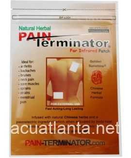 Pain Terminator Far Infrared Patch (Professional) 10 patches 7.5cm x 10cm