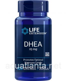 DHEA 100 dissolving tablets 25 mg