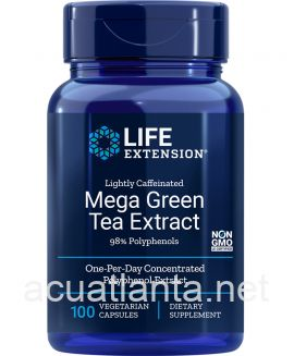 Mega Green Tea Extract (lightly caffeinated) 100 vegetarian capsules