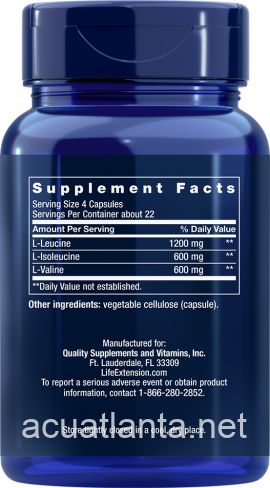 Branched Chain Amino Acids 90 veggie capsules
