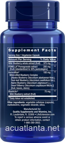 Blueberry Extract with Pomegranate 60 veggie capsules