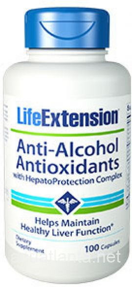 Anti-Alcohol Antioxidants with HepatoProtection Complex 100 capsules
