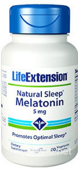 Natural Sleep Melatonin 60 veggie capsules 5 milligrams