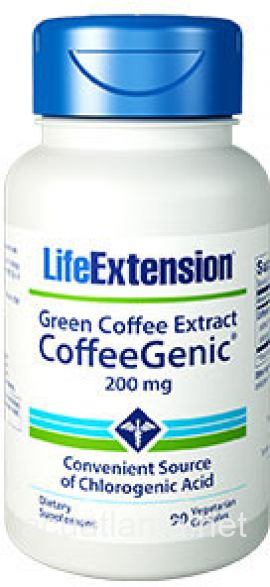 Coffeegenic Green Coffee Extract 90 veggie capsules 200 milligrams