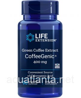Coffeegenic Green Coffee Extract 90 veggie capsules 400 milligrams