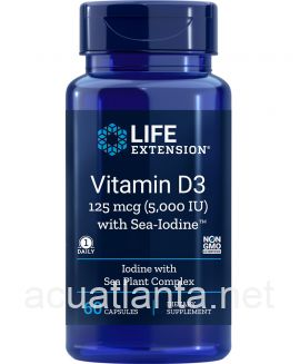 Vitamin D3 with Sea-Iodine 60 capsules 5000 IU