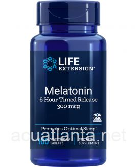 Melatonin 6 Hour Timed Release 100 tablets 300 micrograms