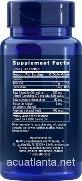 PalmettoGuard Saw Palmetto with Beta-Sitosterol 30 softgels