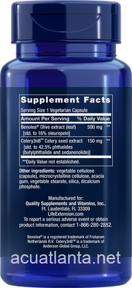 Advanced Olive Leaf Vascular Support with Celery Seed Extract 60 veggie capsules