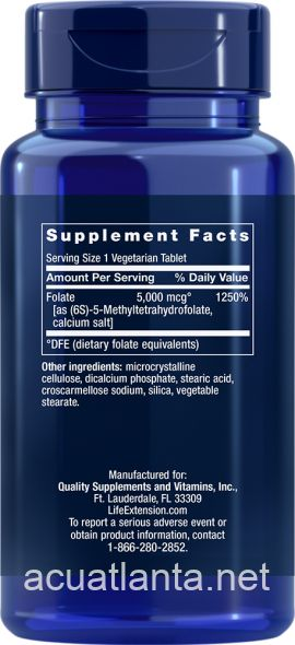 High Potency Optimized Folate 30 tablets