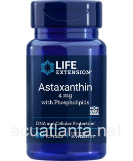 Astaxanthin with Phospholipids 30 soft gels 4 milligrams