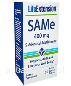 SAMe (S-Adenosyl-Methionine) 60 enteric coated tablets 400 milligrams