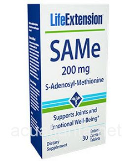 SAMe (S-Adenosyl-Methionine) 30 enteric coated tablets 200 milligrams