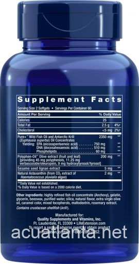 Super Omega-3 Plus EPA/DHA with Sesame Lignans, Olive Extract,  Krill & Astaxanthin 120 softgels