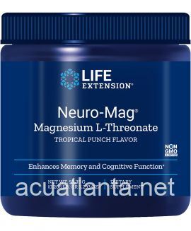 Neuro-Mag Magnesium L-Threonate Powder 93.35 grams Tropical Punch Flavor