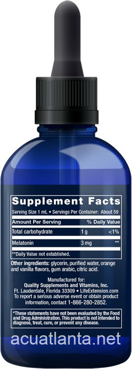 Fast-Acting Liquid Melatonin 2 ounce 3 milligrams Citrus-Vanilla Flavor