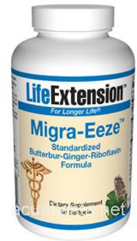 Migra Eeze Butterbur Ginger Riboflavin (Standardized) 60 soft gelcaps