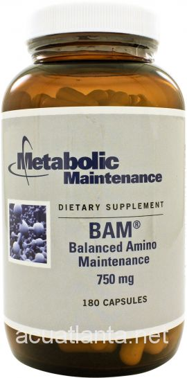 BAM (Balanced Amino Maintenance) 180 capsules 750 milligrams