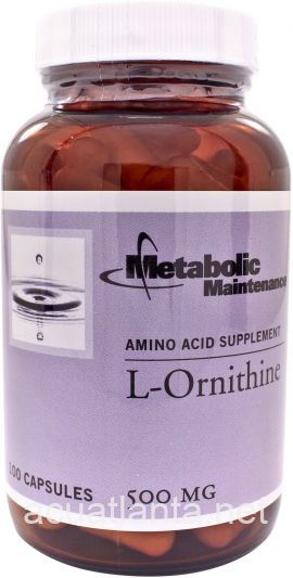 L-Ornithine 500 mg 100 capsules