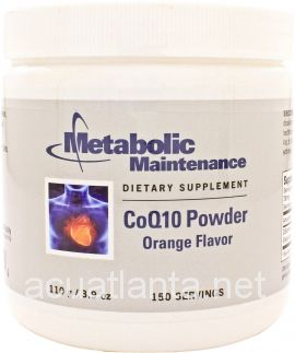 CoQ10 Powder Orange Flavor 150 servings 100 mg