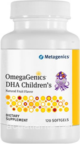 OmegaGenics DHA Children\'s 120 soft gelcaps Natural Fruit Flavor