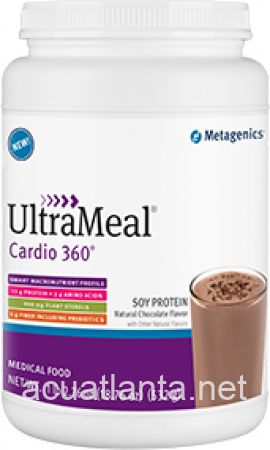 UltraMeal Cardio 360 Soy Protein 14 servings Natural Chocolate Flavor