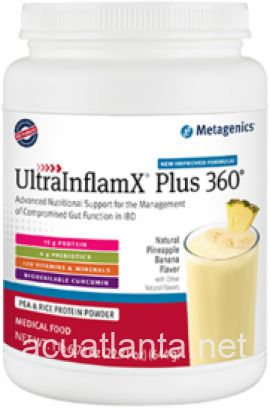 UltraInflamX Plus 360 14 servings Natural Pineapple Banana Flavor