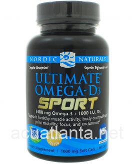 Ultimate Omega-D3 Sport 60 soft gels