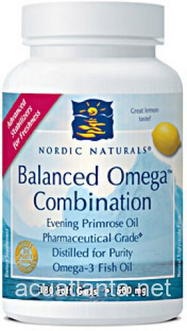 Balanced Omega Combination 180 capsules Lemon