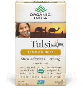 Tulsi Lemon Ginger 18 tea bags