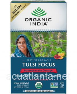 Tulsi Focus 18 tea bags Pomegranate Orange