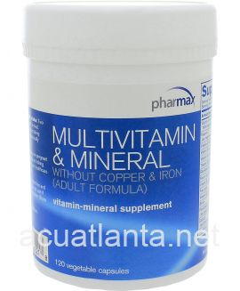 Multivitamin & Mineral without Cu & Fe 120 capsules
