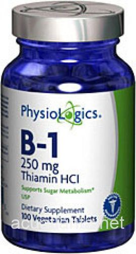 B-1 Thiamine HCL 100 count 250 milligrams