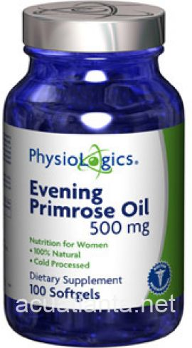 Evening Primrose Oil 100 gelcaps 500 milligrams
