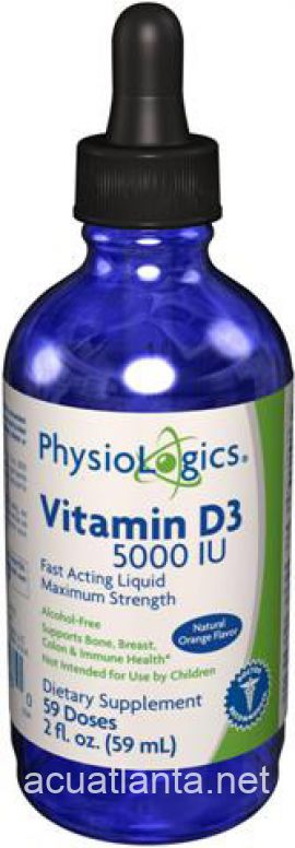 Vitamin D3 (Fast Acting Liquid) 2 oz 5000 i.u.