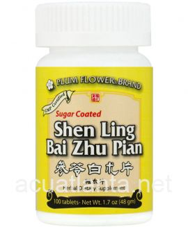 Shen Ling Bai Zhu Pian 100 tablets Sugar Coated