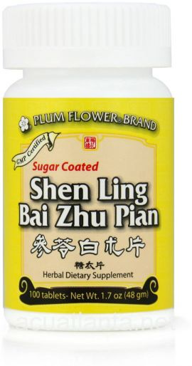 Shen Ling Bai Zhu Pian Sugar Coated 100 count