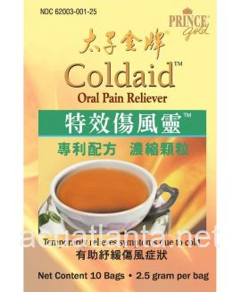 ColdAid Concentrated Herbal Extract Tea 10 bags