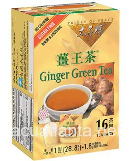 Ginger Green Tea 16 tea bags