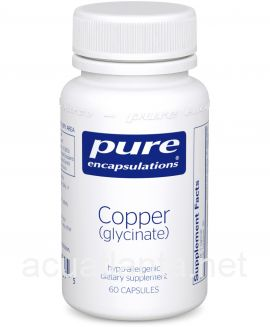 Copper (glycinate) 60 veggie capsules 2 milligrams