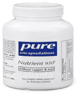 Nutrient 950 without Cu and Fe 180 soft capsules