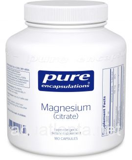 Magnesium (Citrate) 180 vegetable capsules