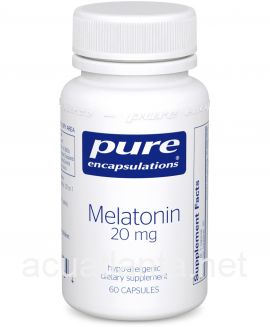 Melatonin 60 vegetarian capsules 20 milligrams